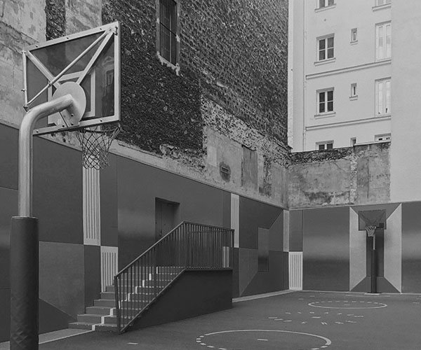 Image of a basketball court