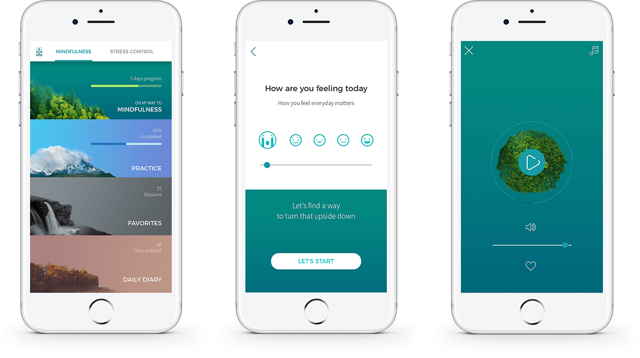 mental health app UI design